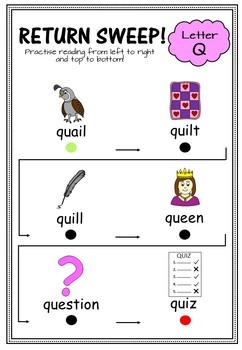 Concepts of Print- Alphabet Return Sweep