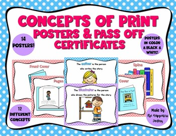 Concepts of Print Anchor Charts and Pass Off Cards