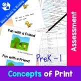 Concepts of Print Assessment PreK-1
