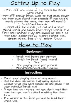 Concepts of Print Board Game (Letters, Words, Sentences)