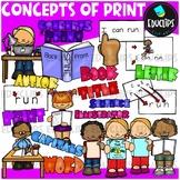 Concepts of Print Clip Art Bundle {Educlips Clipart}