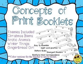 Concepts of Print Readers: Christmas, Winter, Animals, Gingerbread Girl
