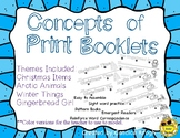 Concepts of Print Readers: Christmas, Winter, Animals, Gin