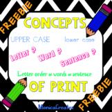 Concepts of Print - FREEBIE