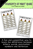Concepts of Print Game (Letters, Numbers, Words, Sentences