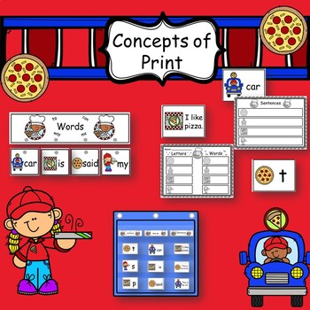 Concepts of Print: Letter, Word, Sentence Sort