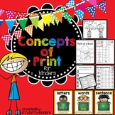 Concepts of Print; Letters, Words and Sentences (and more)