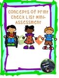 Concepts of Print Mini-Assessment