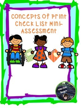 Concepts of Print Mini-Assessment