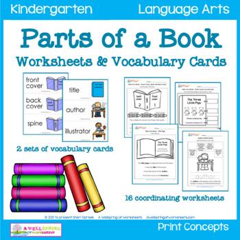 Science Worksheets For Kindergarten A Wellspring Of on Book Worksheet For Kindergarten Print Concepts