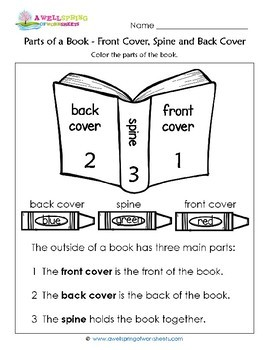 Parts Of A Book Worksheets Amp Vocabulary Cards By A