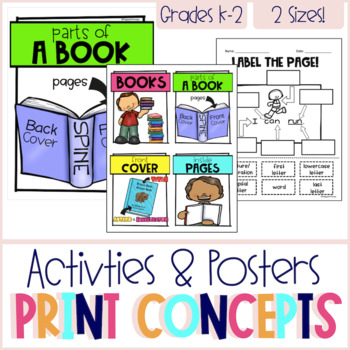 Concepts of Print - Poster & Activity Set Gr. 2