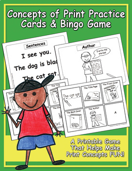 Concepts of Print Practice Card & Bingo Game