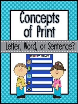 Concepts of Print Sorting Activity