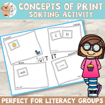 Concepts of Print - Sort It! - What is a Word/Letter/Sentence