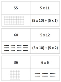 Conceptual Basic Facts Multiplication Cards