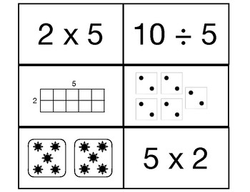 Concept Math- Multiplication/Division Cards