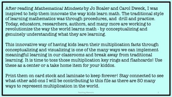Conceptual Multiplication Math Fact Task