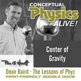 Conceptual Physics Alive: Center of Gravity