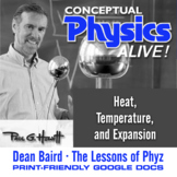 Conceptual Physics Alive: Heat, Temperature, and Expansion