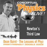 Conceptual Physics Alive: Newton's Third Law