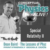 Conceptual Physics Alive: Special Relativity II