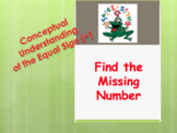 Conceptual Understanding of the Equal Sign (=) - Find the