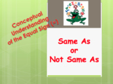 Conceptual Understanding of the Equal Sign (=) - Same As o