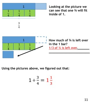 Conceptually Dividing Fractions - A workbook with diagrams by Allison RauTeachers Pay Teachers