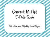 Concert B Flat 5 Note Scale with Solfege & Hand Signs