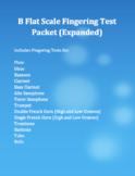 Concert B Flat Scale Fingering Test Packet