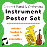 Concert Band & Orchestra Instrument & Families Poster Set