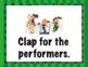 Concert Behavior Rules and Guidelines Bulletin Board Set