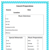 Music Concert Checklist Worksheets & Teaching Resources | TpT