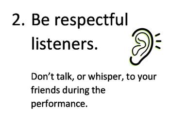 Concert Etiquette Guideline Posters