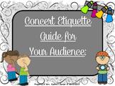 Concert Etiquette (PDF Edition) - A Guide & Slide Show For Your Audience