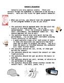 Concert Etiquette Worksheet