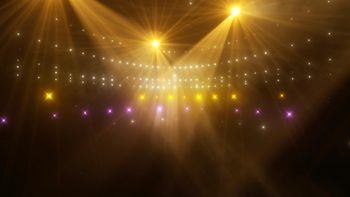 Motion Graphics Background 4K (Ultra High Definition) - Rotating Concert Lights
