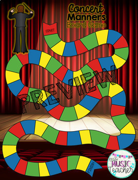 Concert Manners Board Game