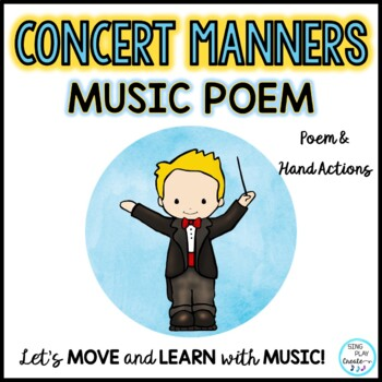 FREEBIE: Concert Manners Poem for Music-Drama-Events-Programs-Concerts