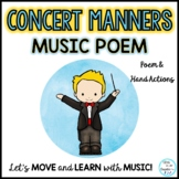 Free concert manners poem for your music concerts.