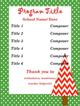 Christmas/Holiday - Concert/ Music Program Kit