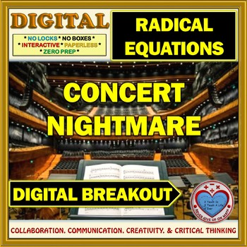Concert Nightmare: Digital Breakout about Solving Radical Equations