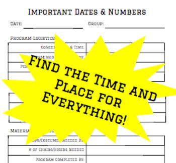 Concert Planning Tool-Kit