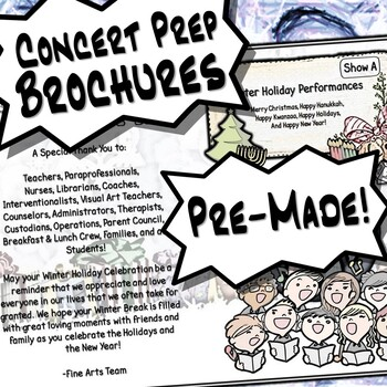 Concert Prep - Pre-Made Concert Brochures For Any Show!
