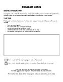 Concert Program Notes