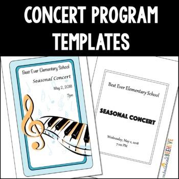 Concert Program Template Teaching Resources Teachers Pay Teachers