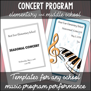 Concert Program Templates By The Balanced Beehive Tpt