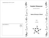 Concert Program Template - Quick & Classy - Includes Music Clip Art