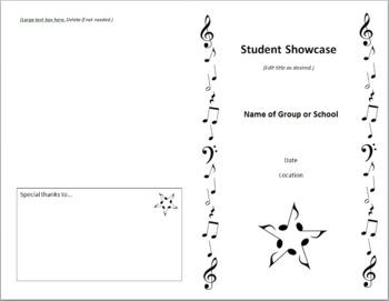 Concert Program Template - Quick & Classy - Includes Music